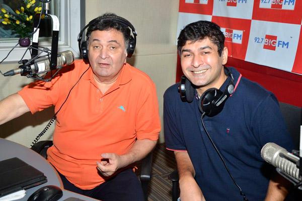 Rishi Kapoor Celebrates Birthday At 92.7 Big FM With RJ Anirudh