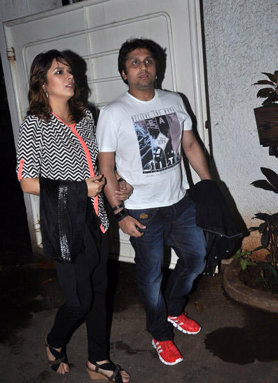 Udita Goswami With Hubby Mohit Suri Attend The Special Screening Of Raja Natwarlal Movie