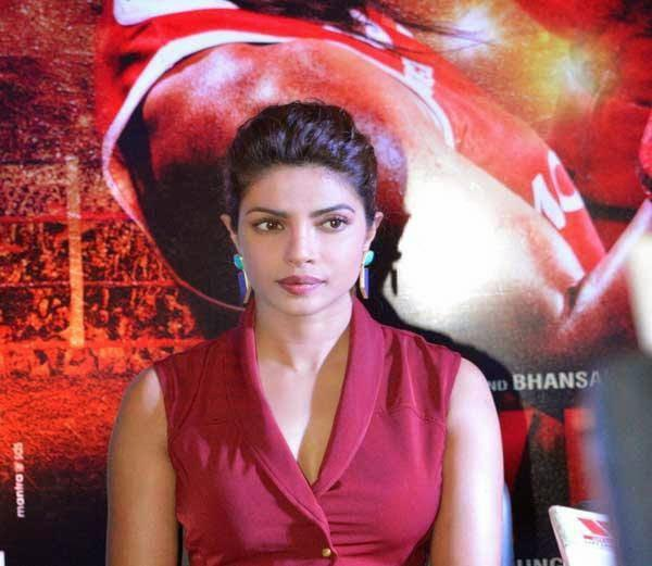 Priyanka Chopra During A Press Conference To Promote Her Upcoming Film Mary Kom In Lucknow