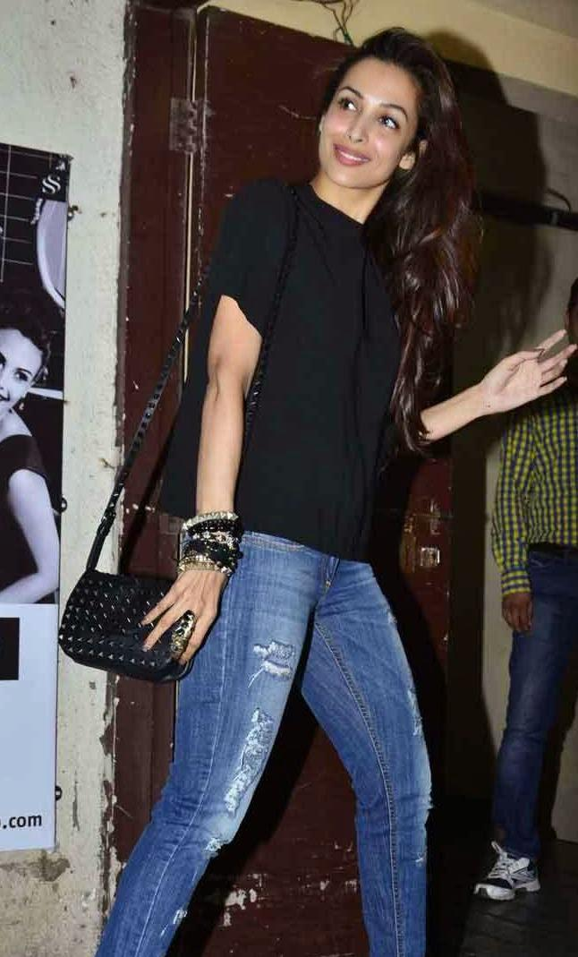 Malaika Arora Khan Spotted The Finding Fanny Screening Hosted By Homi Adjania