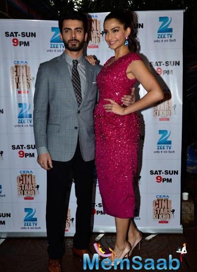 Fawad Khan And Sonam Kapoor Dazzled On The Sets Of Zee Cine Star Ki Khoj During The Promotion Of Khoobsurat