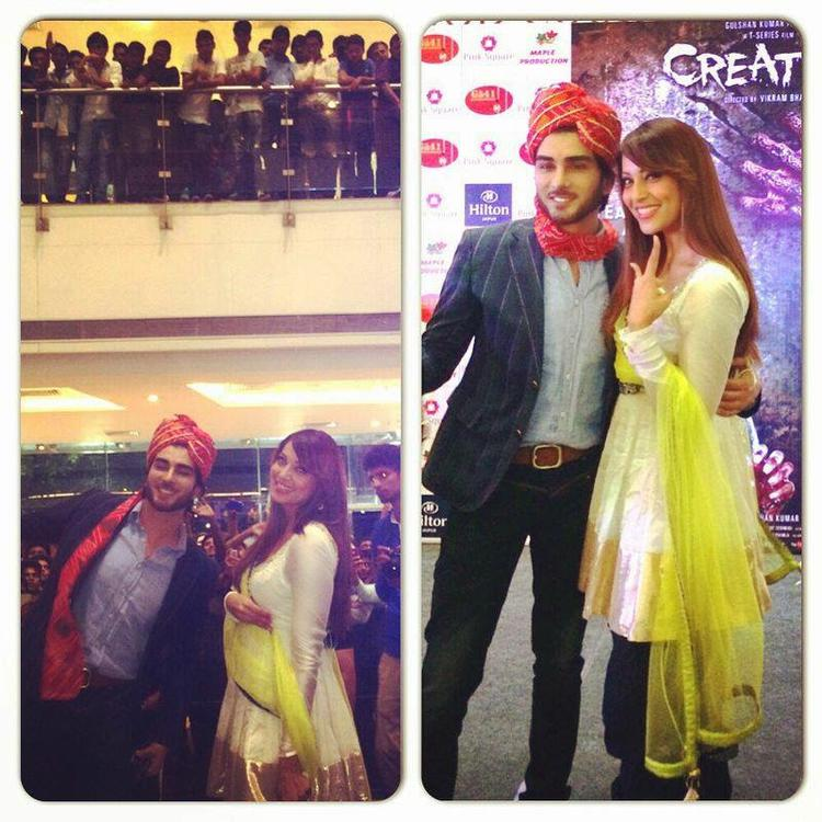 Imran Abbas Naqvi And Bipasha Basu Dazzled In Pink City Jaipur For Promoting Creature 3D Movie