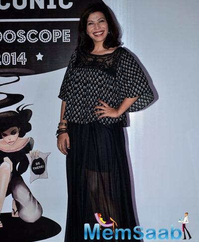 Shilpa Shukla Smiling Posing For Shutterbug At Sophia Women College Kaleidoscope Festival