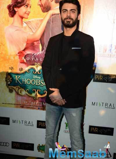 Fawad Afzal Khan Dappers Handsome Look During The Promotion Of  Khoobsurat At Delhi