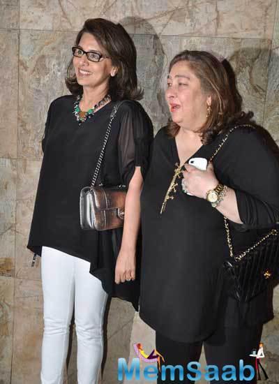 Rima Kapoor Jain And Neetu Kapoor Arrived At The Film Screening Of Khoobsurat