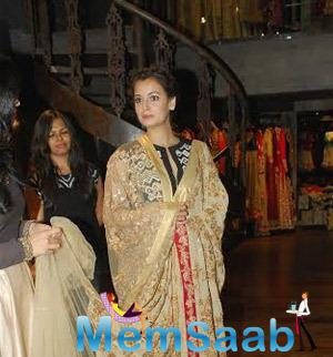 Actress Dia Mirza Attended The Signature Studio Store Launch Held In Mumbai
