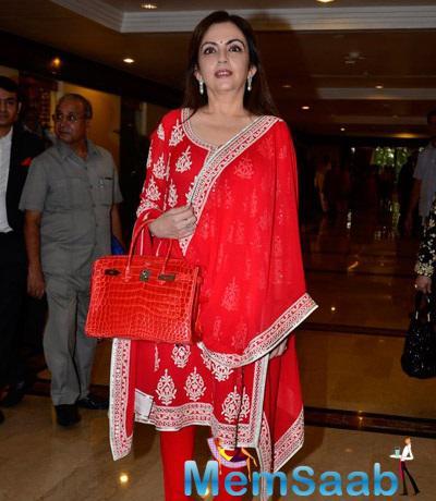 Nita Ambani Spotted At 30th Anniversary Priyadarshini Global Awards