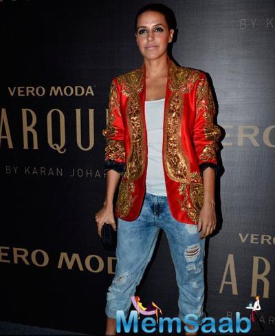 Neha Dhupia Attend Karan Johar's Vero Moda Collection Launch