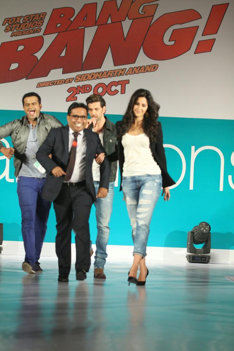 Katrina Kaif At Pantaloons Bang Bang Collection Launch With Denim Look