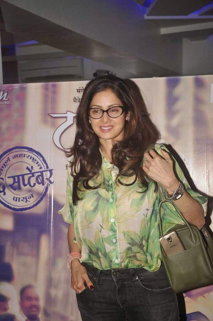 Sridevi Kapoor Beautiful Look During The Screening Of Tapaal Movie