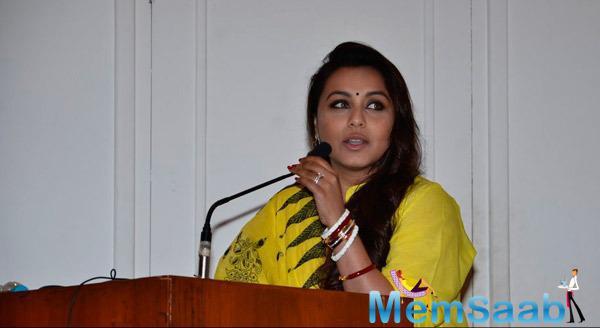 Rani Mukerji Interact With Media At Make Way For Ambulance Awareness Program