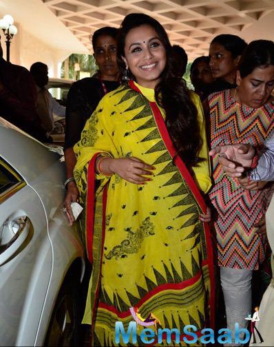 Smiling Rani Mukerji Spotted At Make Way For Ambulance Awareness Program