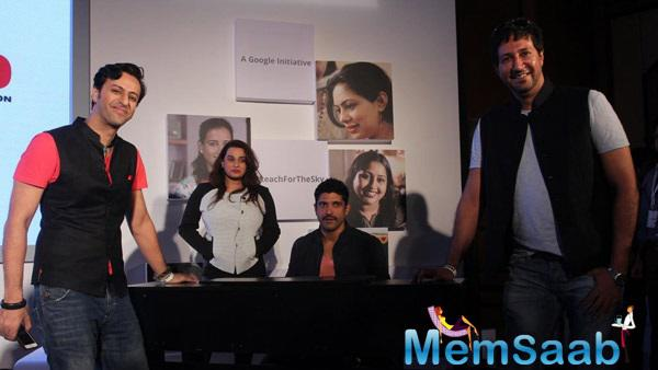 Farhan Akhtar,Salim Merchant And Sulaiman Merchant Cool Posed During MARD Song Launch Event
