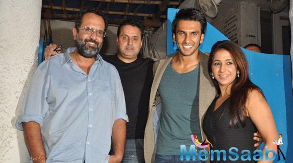 Ranveer Spotted With Krishika and Sunil At Olive For Bajirao Mastani Over A Quiet Dinner