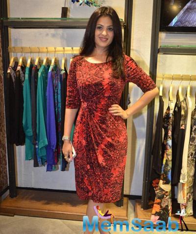 Anjana Sukhani At Palladium For Attended The Ritu Kumar's Store Launch Event