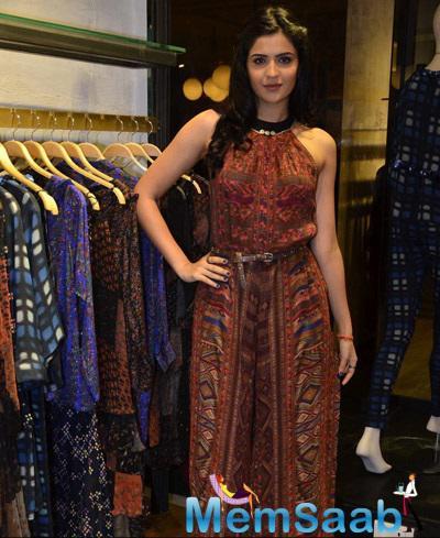 Deeksha Seth Looking Pretty During The Ritu Kumar's Store Launch Shutterbug