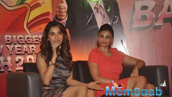 Sophie Choudry Interacts With Media At Country Club New Year Bash
