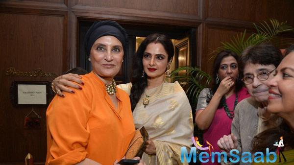 Rekha Looks Very Stunning During The Opening Ceremony Of Amazing Yard Exhibition
