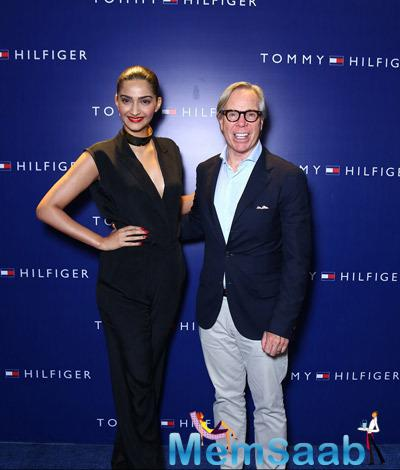Sonam Kapoor And Tommy Hilfiger Posed For Camera At The Tommy Hilfiger Select Citywalk Store