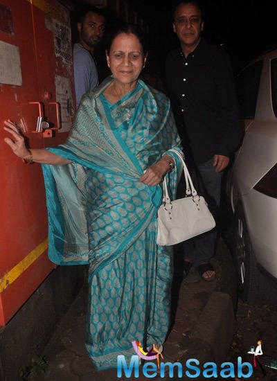 Aamir's Mom Zeenat Hussain Snapped At Vidhu Vinod Chopra Studios