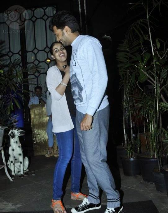 The Happy Couple Genelia And Riteish Was Spotted Last Night At A Posh Suburban Restaurant