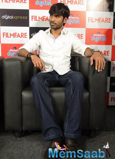 Dhanush Meets Filmfare Readers At Reliance Digital Showroom In Chennai