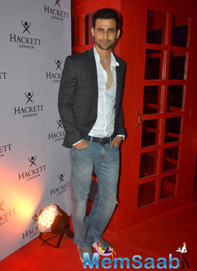 Model Freddy Daruwala Handsome Look During The Hackett London First Store Launch Party