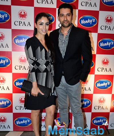 Aftab Shivdasani With His Wife Nin Dusanj At Breast Cancer Awareness Programme