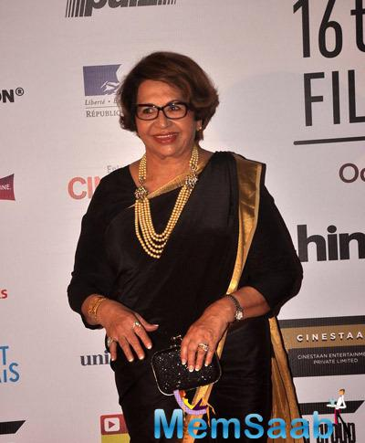Helen Jairag Richardson Felicitated With The Lifetime Achievement Award During The Opening Ceremony Of 16th Mumbai Film Festival 2014