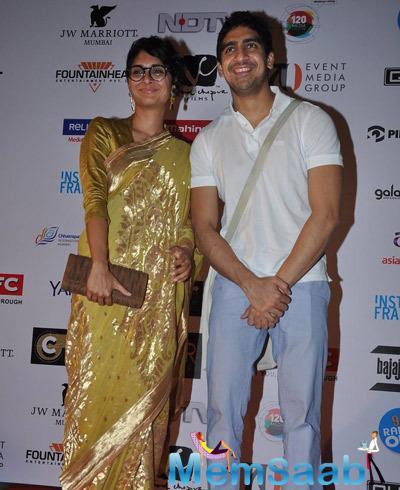 Kiran Rao Posed With Ayan Mukerji At The Opening Ceremony Of 16th Mumbai Film Festival 2014