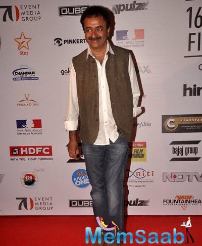 Rajkumar Hirani Present On Red Carpet At The Opening Ceremony Of 16th Mumbai Film Festival 2014