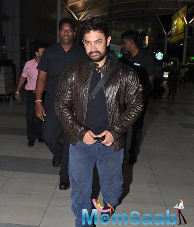 Aamir Khan Snapped At The International Airport With Tried Look