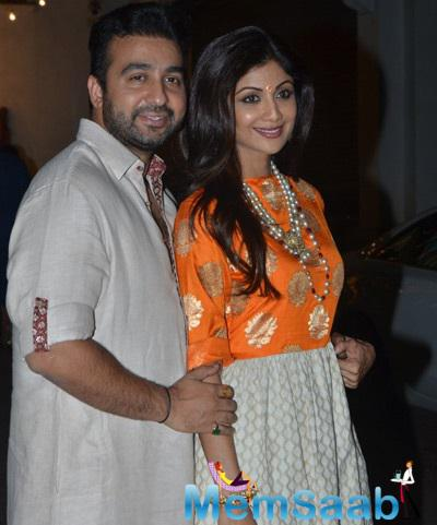Shilpa Shetty And Hubby Raj Kundra Kickstart The Diwali Celebrations