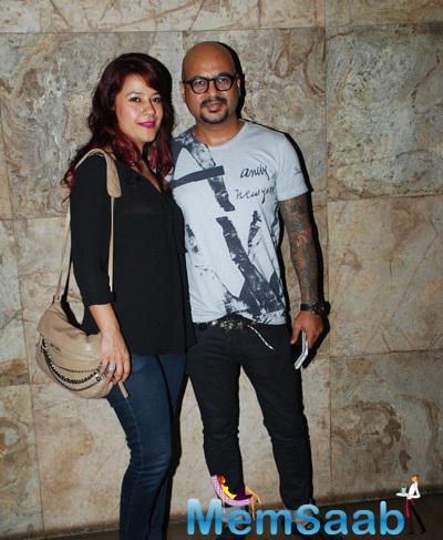 Hairstylist Aalim Hakim With His Wife At Hollywood Film Fury Special Screening