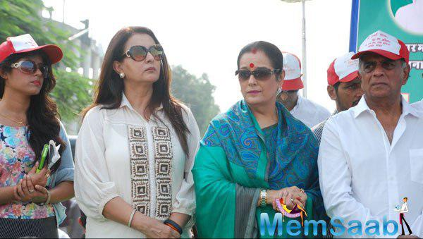 Poonam Dhillon And Poonam Sinha Attend The 4th Inauguration Mega Cleanliness Drive