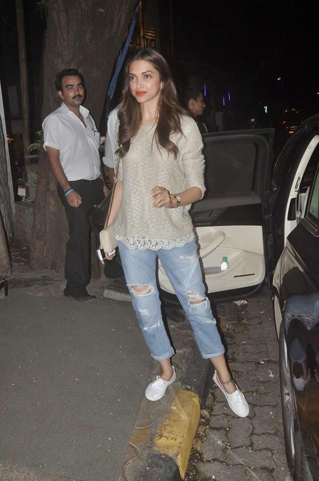 Deepika Padukone Snapped At Nido Bar Bandra, Mumbai
