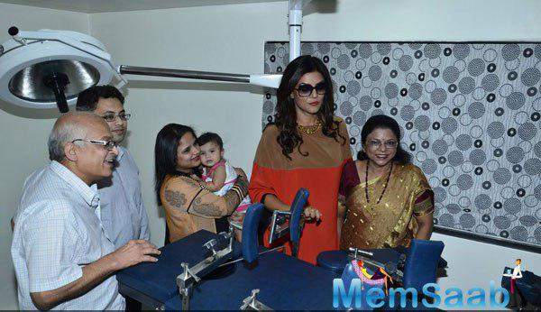 Sushmita Sen At La Piel Dr Trasi Clinic For Discussion On Genetic Based Anti Ageing Solution