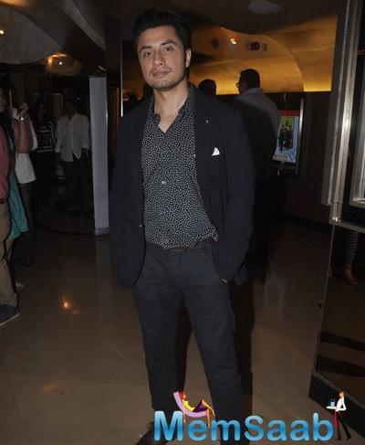 Ali Zafar Dapper Look In Suit During The Screening Of Shaukeens Movie