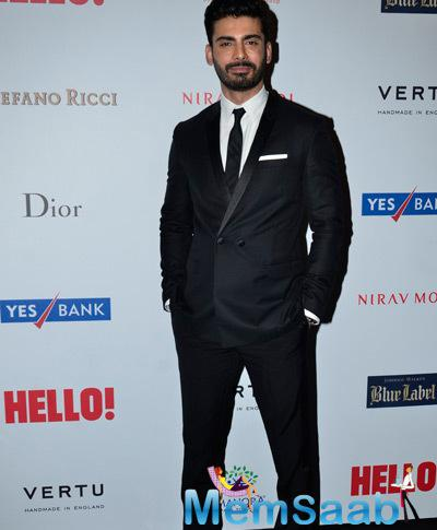 Fawad Khan Dashing Look During The Hello! Hall Of Fame Awards 2014