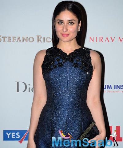 Kareena Kapoor Khan Glamour Look In A Long Gown At The Hello! Hall Of Fame Awards 2014