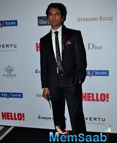 Nawazuddin Siddiqui Posed For Camera During The Hello! Hall Of Fame Awards 2014