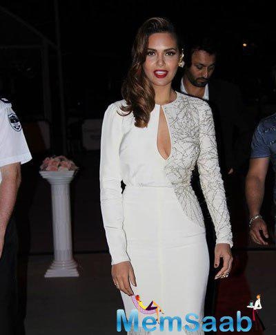 Esha Gupta Sexy Gorgeous Look In Red Lippy During The IFEFA Opening Ceremony In Sydney Australia