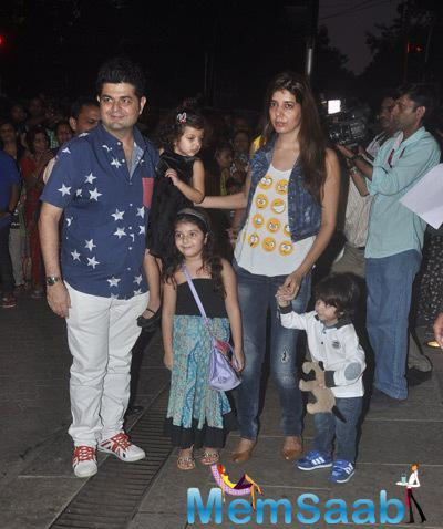 Ace Photographer Dabboo Ratnani Posed With His Family At Aaradhya Bachchan 3rd Birthday Party
