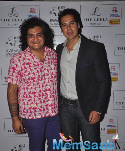 Shail Mane And Dino Morea Posed During Shail Mane Why A Stray Calendar Launch Event