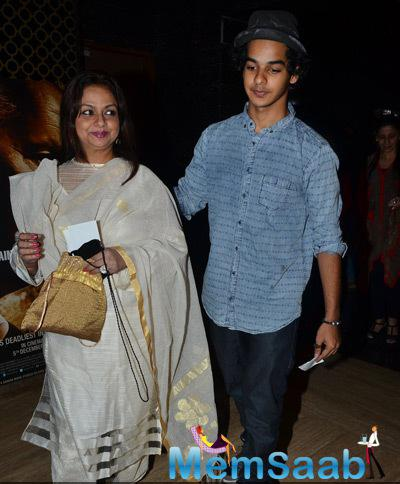 Neelima Azeem With Son Ishaan Khattar Arrived During The Premiere Of Film Bhopal A Prayer For Rain
