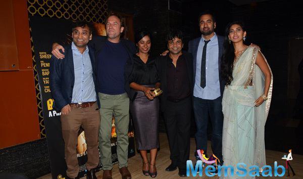 Ravi,David,Tannishtha,Rajpal,Kal And Fagun Pose For Shutterbugs At Bhopal A Prayer For Rain Premiere