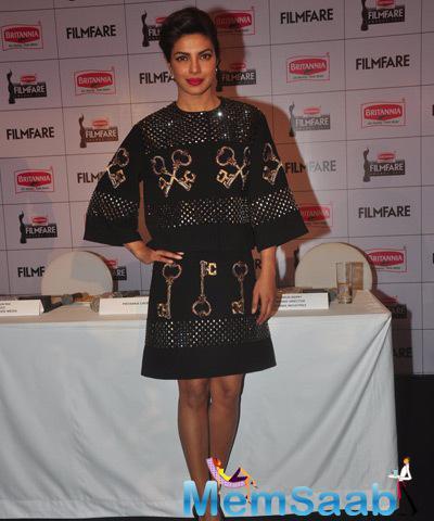 Priyanka Chopra Present To Launch The Latest Edition Of Filmfare Awards