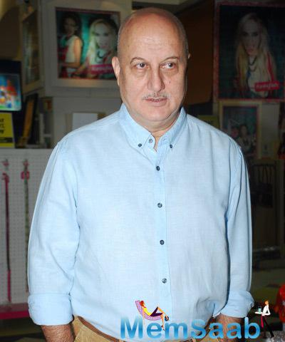 Anupam Kher Gave Pose For Shutterbug At The Launch Of Once Upon A Star Book