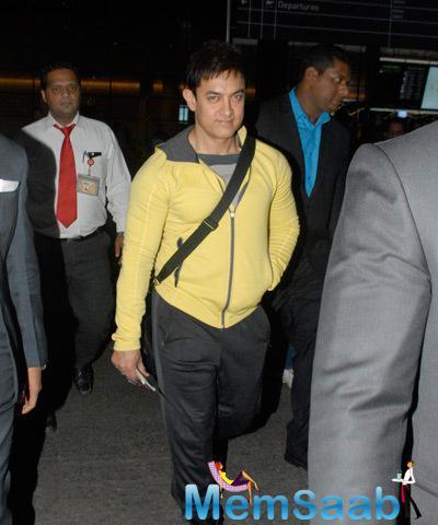 Aamir Khan Spotted At Mumbai Airport As He Returning From Dubai