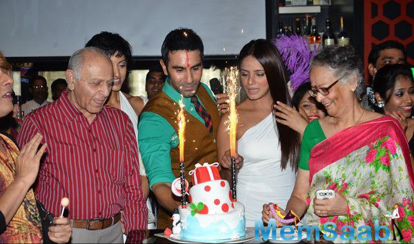 Sandip Soparrkar Cutting The Christmas Cake